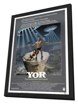 Yor, the Hunter from the Future - 27 x 40 Movie Poster - Style A - in Deluxe Wood Frame