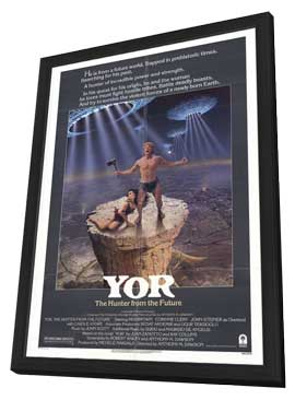 Yor, the Hunter from the Future - 11 x 17 Movie Poster - Style A - in Deluxe Wood Frame