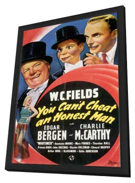 You Can't Cheat an Honest Man - 11 x 17 Movie Poster - Style A - in Deluxe Wood Frame