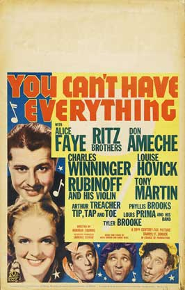 You Can't Have Everything - 11 x 17 Movie Poster - Style B