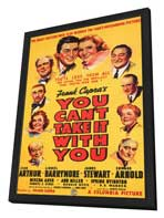 You Can't Take It with You - 11 x 17 Movie Poster - Style A - in Deluxe Wood Frame