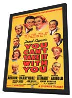You Can't Take It with You - 27 x 40 Movie Poster - Style A - in Deluxe Wood Frame