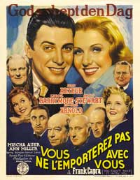 You Can't Take It with You - 43 x 62 Movie Poster - Belgian Style A