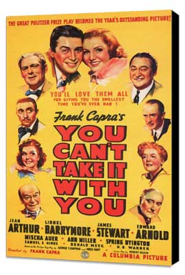 You Can't Take It with You - 11 x 17 Movie Poster - Style A - Museum Wrapped Canvas