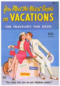 You Meet the Nicest People On Vacations - 11 x 17 Retro Book Cover Poster