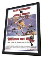You Only Live Twice - 11 x 17 Movie Poster - Style B - in Deluxe Wood Frame