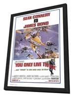 You Only Live Twice - 27 x 40 Movie Poster - Style A - in Deluxe Wood Frame