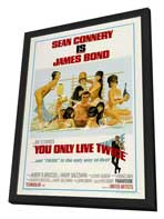 You Only Live Twice - 27 x 40 Movie Poster - Style C - in Deluxe Wood Frame