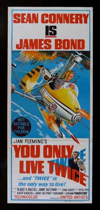 You Only Live Twice - 13 x 30 Movie Poster - Australian Style A