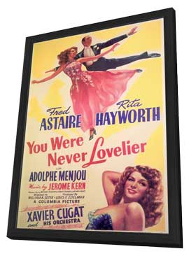 You Were Never Lovelier - 11 x 17 Movie Poster - Style B - in Deluxe Wood Frame