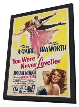 You Were Never Lovelier - 27 x 40 Movie Poster - Style B - in Deluxe Wood Frame