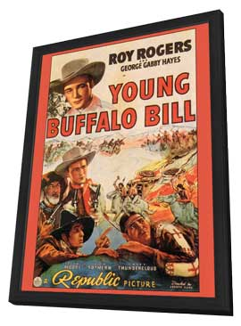 Young Buffalo Bill - 27 x 40 Movie Poster - Style A - in Deluxe Wood Frame
