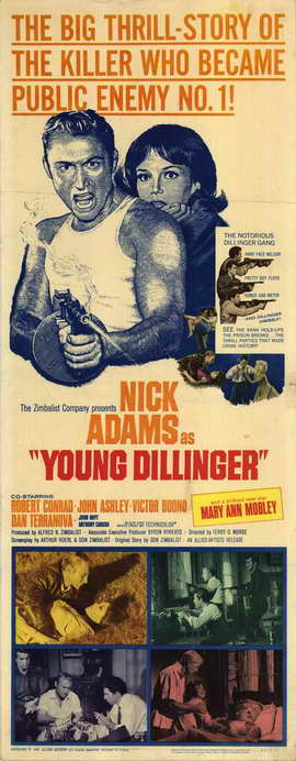Young Dillinger - 14 x 36 Movie Poster - Insert Style A