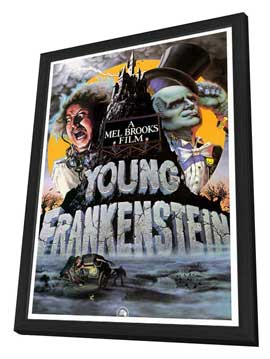 Young Frankenstein - 27 x 40 Movie Poster - Style B - in Deluxe Wood Frame