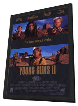 Young Guns 2 - 11 x 17 Movie Poster - Style A - in Deluxe Wood Frame