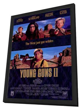 Young Guns 2 - 27 x 40 Movie Poster - Style A - in Deluxe Wood Frame