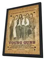 Young Guns - 27 x 40 Movie Poster - Style B - in Deluxe Wood Frame