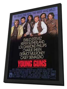 Young Guns - 27 x 40 Movie Poster - Style A - in Deluxe Wood Frame