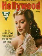 Loretta Young - 11 x 17 Hollywood Magazine Cover 1930's Style B