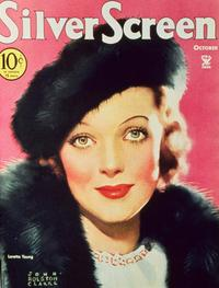 Loretta Young - 11 x 17 Silver Screen Magazine Cover 1930's Style A