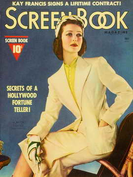Loretta Young - 11 x 17 Screen Book Magazine Cover 1930's