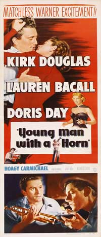 Young Man with a Horn - 14 x 36 Movie Poster - Insert Style A