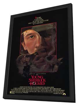 Young Sherlock Holmes - 11 x 17 Movie Poster - Style B - in Deluxe Wood Frame