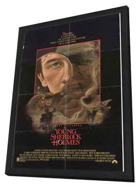 Young Sherlock Holmes - 27 x 40 Movie Poster - Style B - in Deluxe Wood Frame