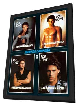 Youngblood - 11 x 17 Movie Poster - Brazilian Style A - in Deluxe Wood Frame