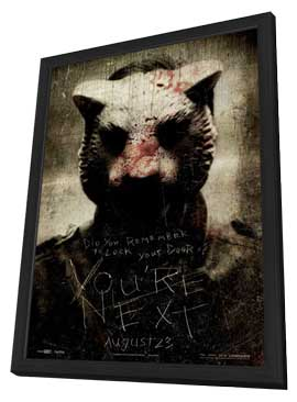 You're Next - 27 x 40 Movie Poster - Style B - in Deluxe Wood Frame