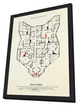 You're Next - 11 x 17 Movie Poster - Style D - in Deluxe Wood Frame