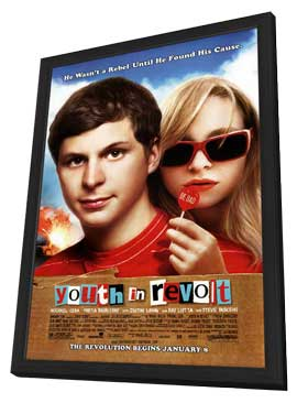 Youth in Revolt - 27 x 40 Movie Poster - Style B - in Deluxe Wood Frame
