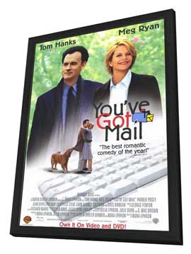 You've Got Mail - 11 x 17 Movie Poster - Style B - in Deluxe Wood Frame