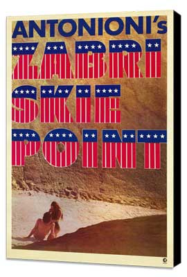 Zabriskie Point - 27 x 40 Movie Poster - Style A - Museum Wrapped Canvas