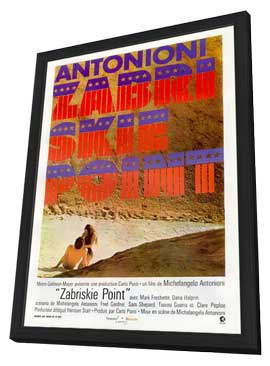 Zabriskie Point - 11 x 17 Movie Poster - French Style A - in Deluxe Wood Frame