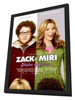 Zack and Miri Make A Porno - 27 x 40 Movie Poster - Style B - in Deluxe Wood Frame