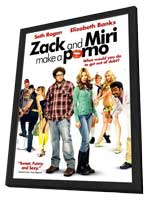 Zack and Miri Make A Porno - 11 x 17 Movie Poster - Style F - in Deluxe Wood Frame