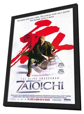 Zatoichi - 27 x 40 Movie Poster - Style B - in Deluxe Wood Frame