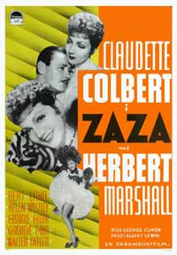 Zaza - 11 x 17 Movie Poster - Swedish Style A