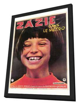 Zazie dans le Metro - 27 x 40 Movie Poster - Foreign - Style A - in Deluxe Wood Frame
