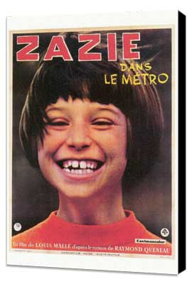 Zazie dans le Metro - 27 x 40 Movie Poster - Foreign - Style A - Museum Wrapped Canvas