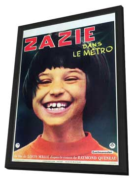 Zazie dans le mtro - 27 x 40 Movie Poster - French Style A - in Deluxe Wood Frame