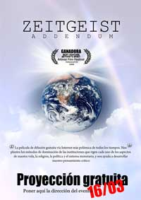 Zeitgeist: Addendum - 11 x 17 Movie Poster - Spanish Style A