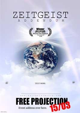 Zeitgeist: Addendum - 27 x 40 Movie Poster - Style A