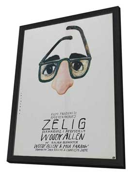 Zelig - 11 x 17 Movie Poster - Polish Style A - in Deluxe Wood Frame