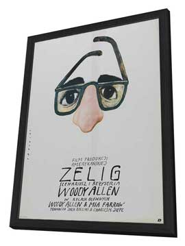 Zelig - 27 x 40 Movie Poster - Polish Style A - in Deluxe Wood Frame