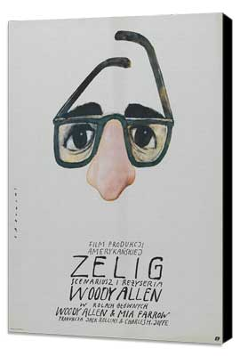 Zelig - 11 x 17 Movie Poster - Polish Style A - Museum Wrapped Canvas
