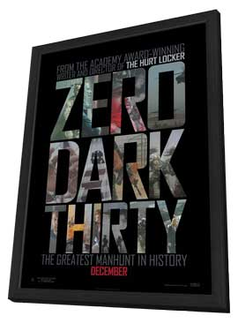 Zero Dark Thirty - 27 x 40 Movie Poster - Style B - in Deluxe Wood Frame