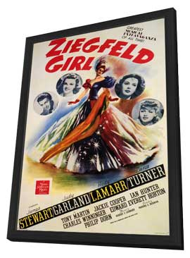 Ziegfeld Girl - 11 x 17 Movie Poster - Style A - in Deluxe Wood Frame