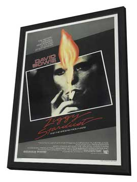Ziggy Stardust and the Spiders from Mars - 27 x 40 Movie Poster - Style A - in Deluxe Wood Frame